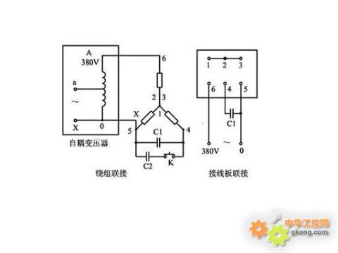 接的三相异步电动机用此种方法接线
