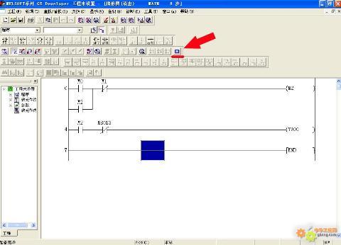主题:三菱fxplc与gt-11触摸屏风机运行动画的制作