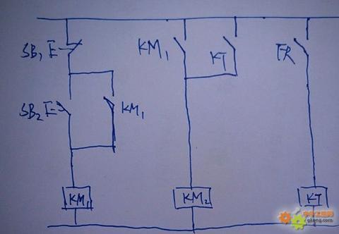 24伏气缸启动延时停止电路图