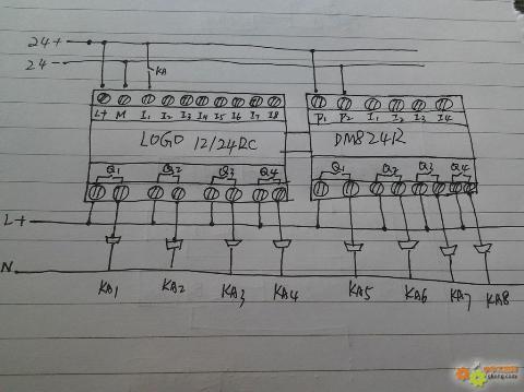 电气控制原理图以及plc接线