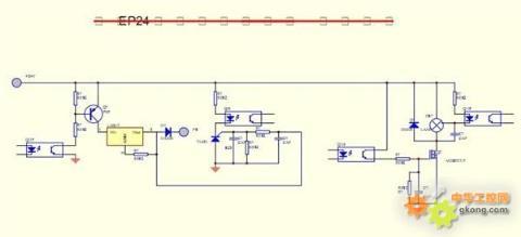 4脚 若pc端子还没有电压 则检查 三极管跟lm317   2;测量pc端子有24v
