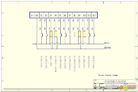 控制器输入输出接线图