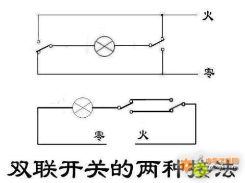 深思开关的电灯双控接线图