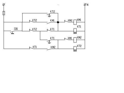 将中间继电器改用失电延时继电器作启动元件的电路