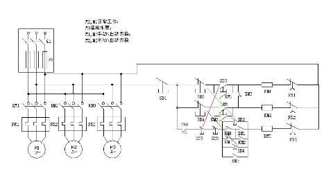 主题:求助:plc控制水泵电机接线图!(原理图已画好)