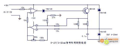 0-10v/4-20ma专用信号转换芯片,芯片型号为ad694