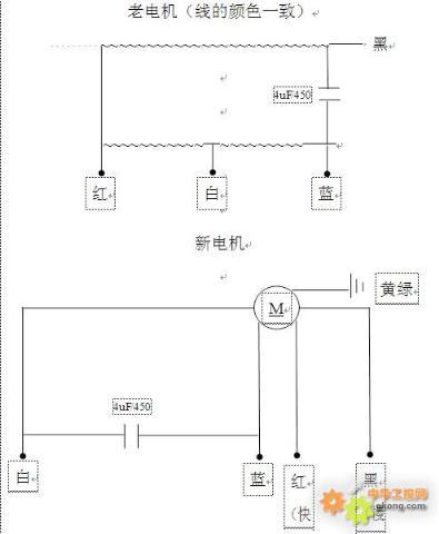 换了油烟机电机,电容 电机却反转怎么接(附电路图)