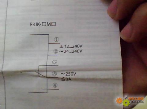 欧姆龙光电开关e3jk开关开关系列接线图和参数表