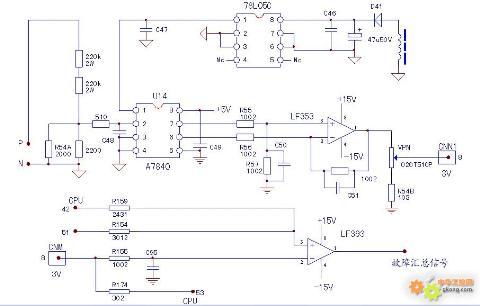 a7840或外电路元件损坏;lf353输入脚电压值为正常值