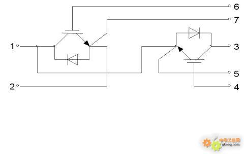 变频器维修   bsm50gb60dlc两管igbt模块资料——接线图