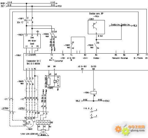 (注电机接线盒里面原先经过变频器是三角形接法) ( 2)电机里面