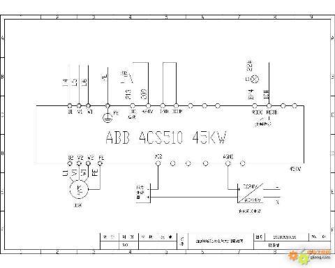 abb变频器acs510系列恒压供水接线图及参数设置