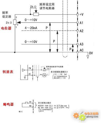 变频器控制回路接线