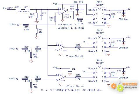 起到和驱动ic(如a316j)内部检测电路