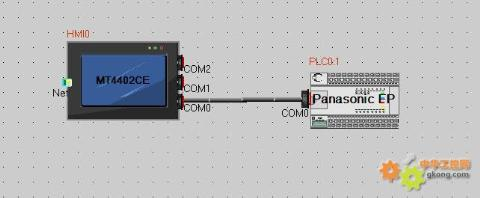 主题:步科触摸屏与松下plc通信问题